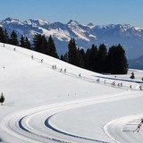 Une journée d'essaie du ski de fond au Sparenmoos.