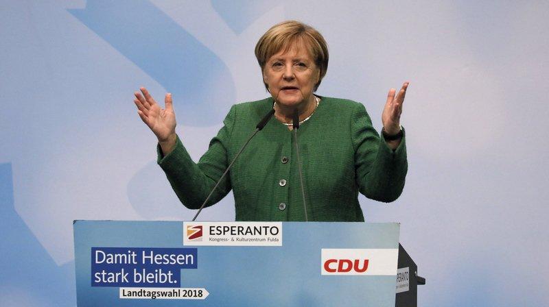 Allemagne: le parti d'Angela Merkel perd plus de dix points lors d'élections régionales en Hesse