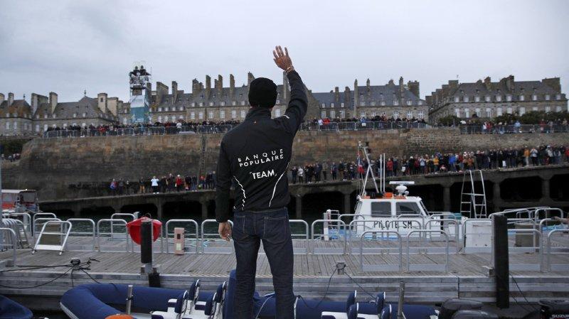 Voile - Route du Rhum: les 123 concurrents ont pris le départ de Saint-Malo (F)