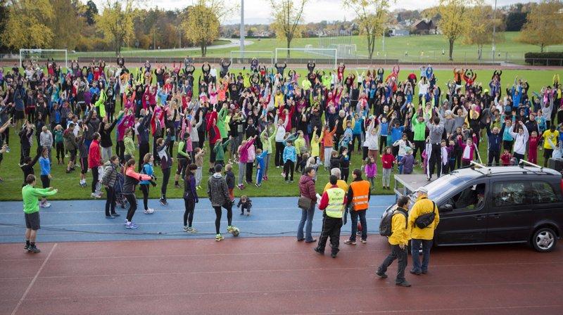 Nyon avait déjà proposé un entraînement populaire pour la course de l'Escalade au centre sportif de Colovray.