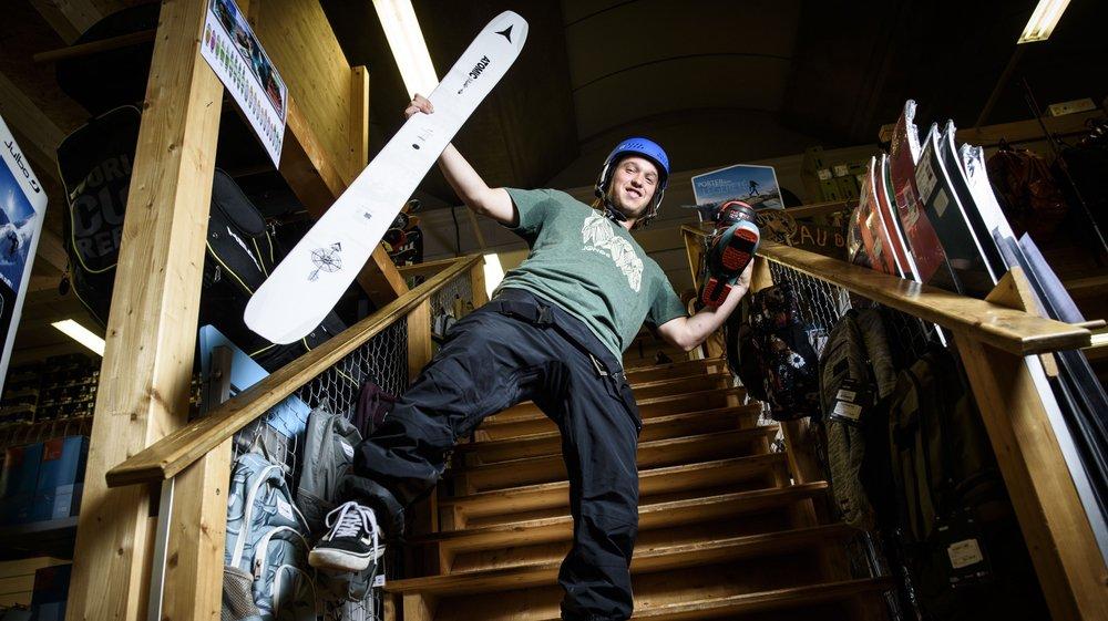 Pour Rémi Benamo comme pour tout skieur, le choix d'un matériel parfaitement adapté est capital pour profiter au maximum des pentes enneigées.