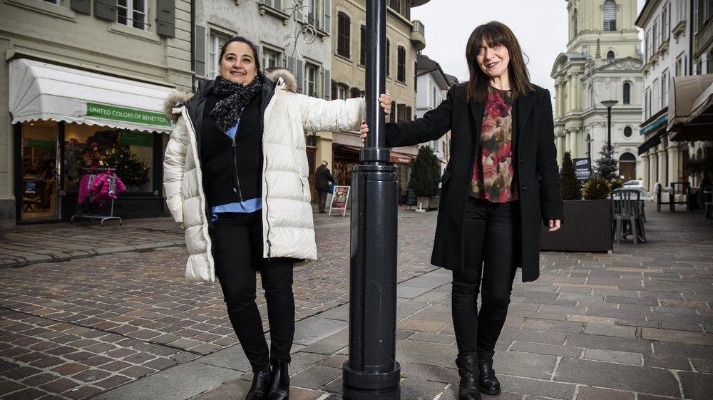Nathalie Arniaud (à g.) et Mirella Bruschi lancent une extension du traditionnel marché de Noël morgiens dans la Grand-Rue.