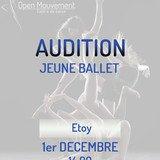 Audition Jeune Ballet Open Mouvement