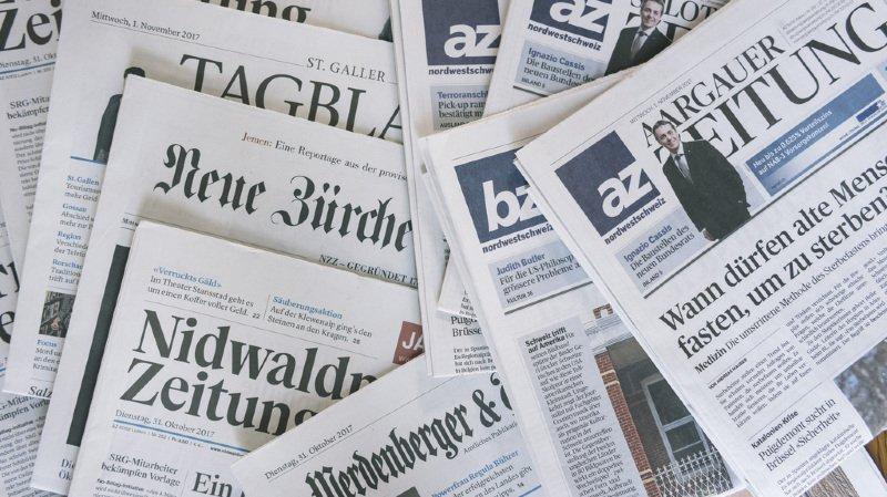 Presse: le groupe CH Media va supprimer environ 200 emplois