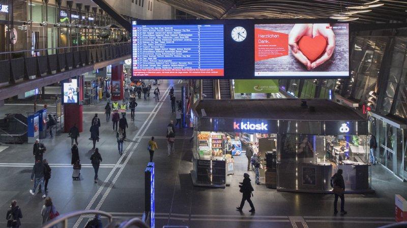 Pendant l'installation de nouveaux aiguillages spéciaux à l'entrée de la gare, aucun train ne circule. (illustration)