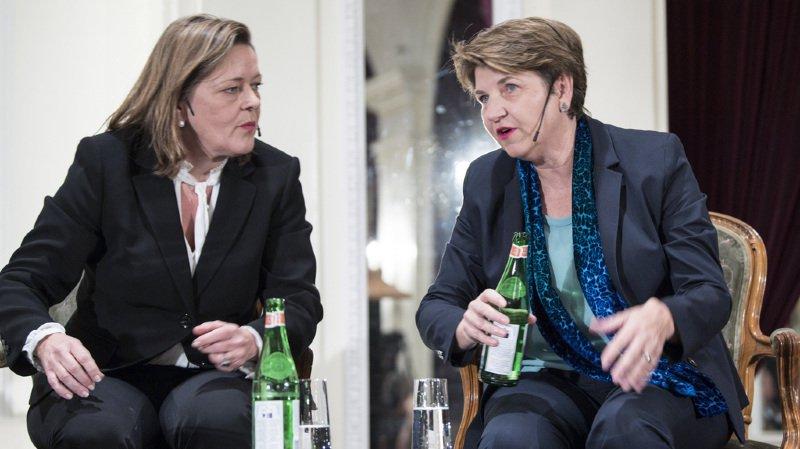 Heidi Z'Graggen ou Viola Amherd? L'une de ces deux femmes devrait succéder à Doris Leuthard au Conseil fédéral.