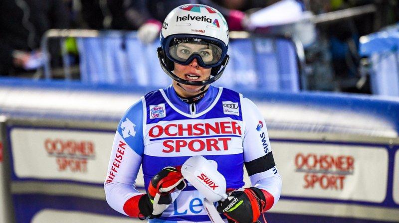 Michelle Gisin s'est classée cinquième de l'entraînement de la descente de Lake Louise, mardi.