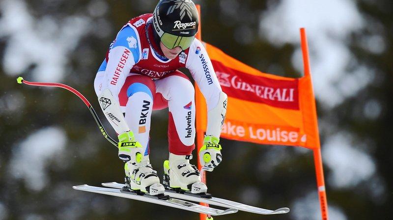 Lara Gut-Behrami a pris la cinquième place du deuxième entraînement, juste devant Michelle Gisin.