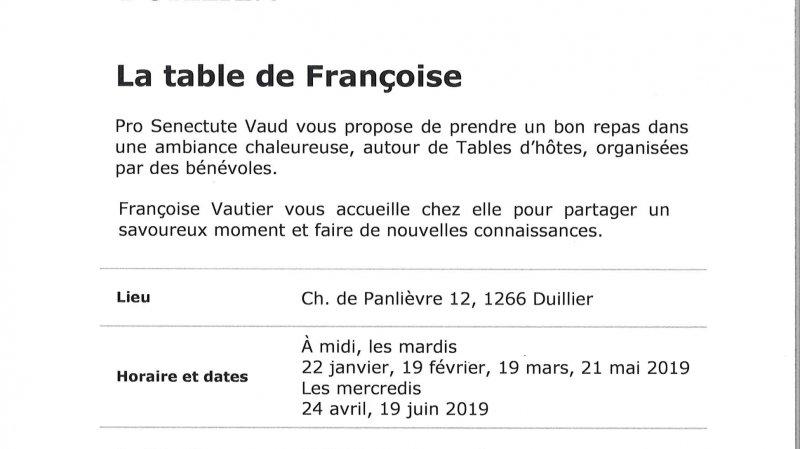 """Table d'hôtes - """"La table de Françoise"""""""