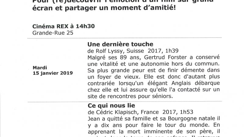 Ciné-seniors à Aubonne