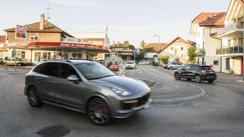 Trafic pendulaire notamment avec les frontaliers, à Crassier (photo d'illustration)