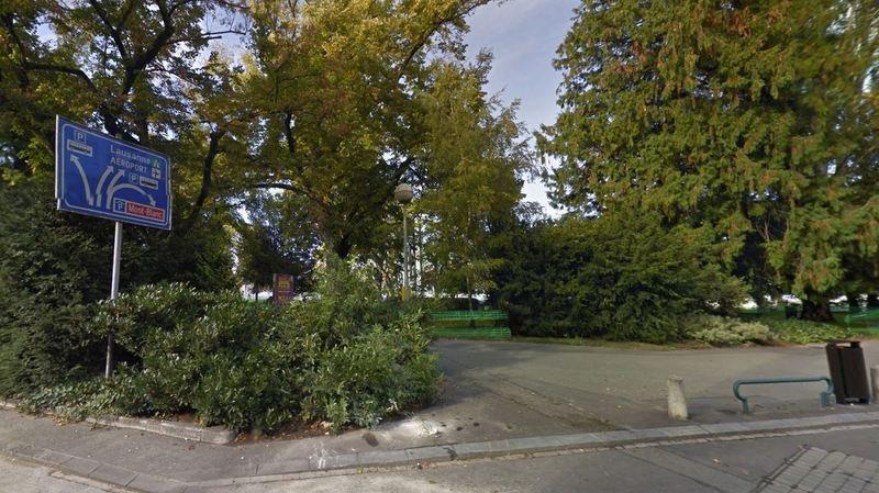 Le Jardin Anglais, à Genève, lieu de l'agression.