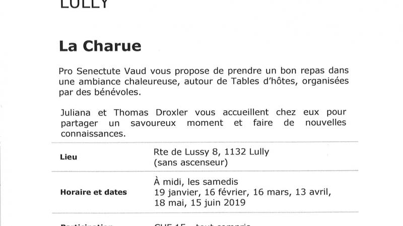 Table d'hôtes - La Charue
