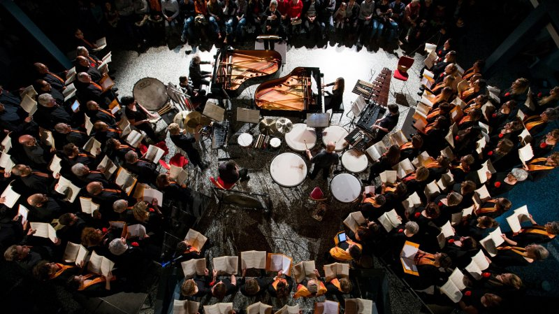 L'Ensemble choral de la Côte lors d'un concert en 2016.