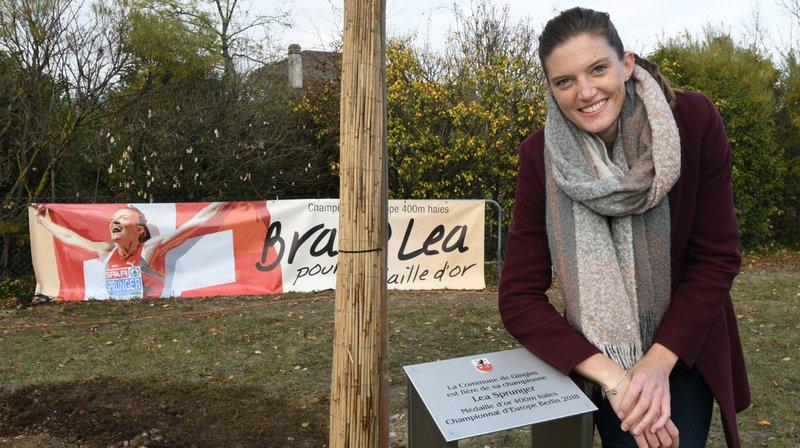 Lea Sprunger a déjà été honorée par la commune de Gingins et de Nyon.
