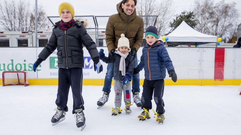 Joyeuse ambiance à la patinoire de Perroy, de la glace à la fondue!