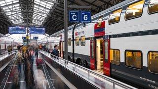 Les CFF réduisent l'offre en soirée au départ de Lausanne dans leur nouvel horaire