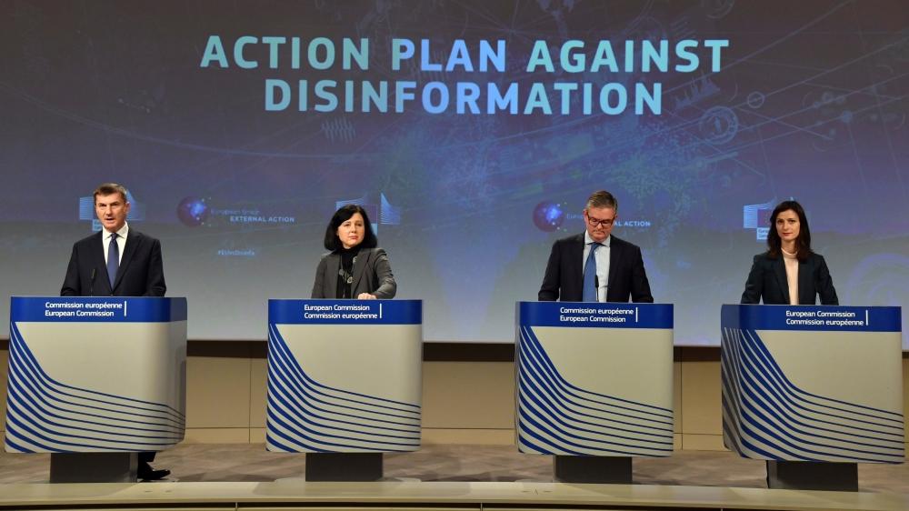 La Commission européenne a présenté, hier, son plan d'action contre la désinformation en ligne.