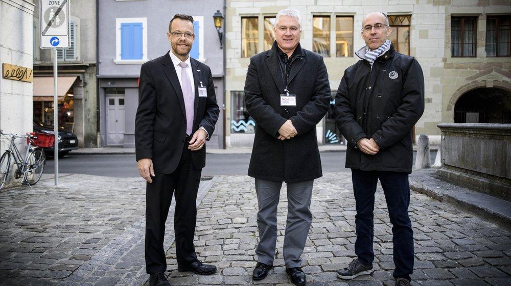 Le comité est présidé par (de gauche à droite) par Sacha Soldini, Yves Gauthier-Jaques et Olivier Tripet.