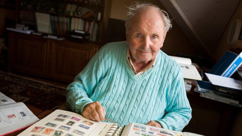 Durant sa retraite, Maurice Schilliger s'était pris de passion pour la philatélie.