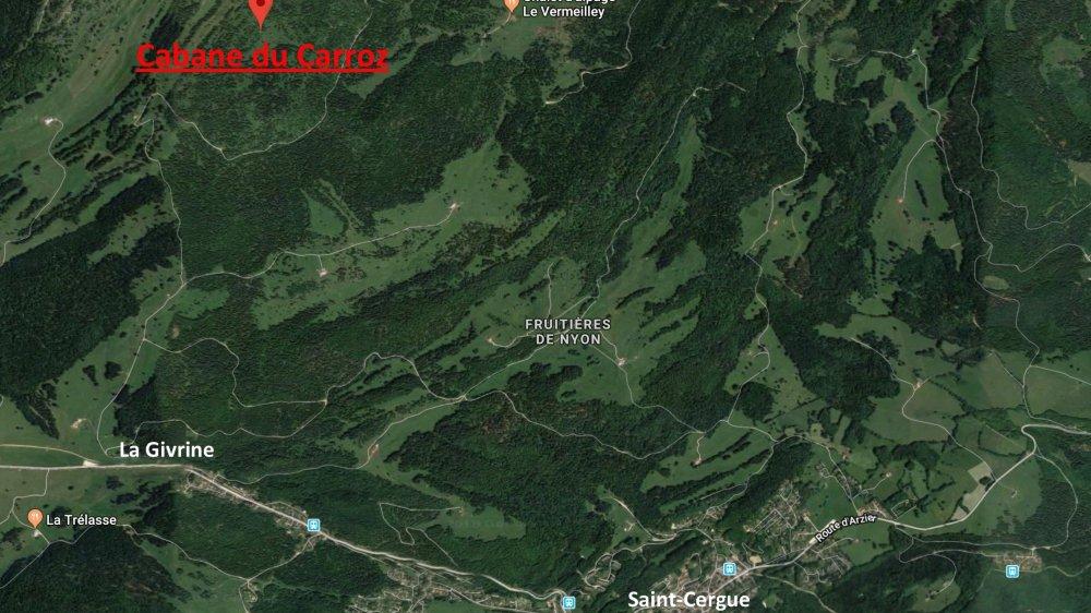 Le promeneur a été localisé à proximité de la cabane du Carroz, le 25 décembre vers 17 heures.
