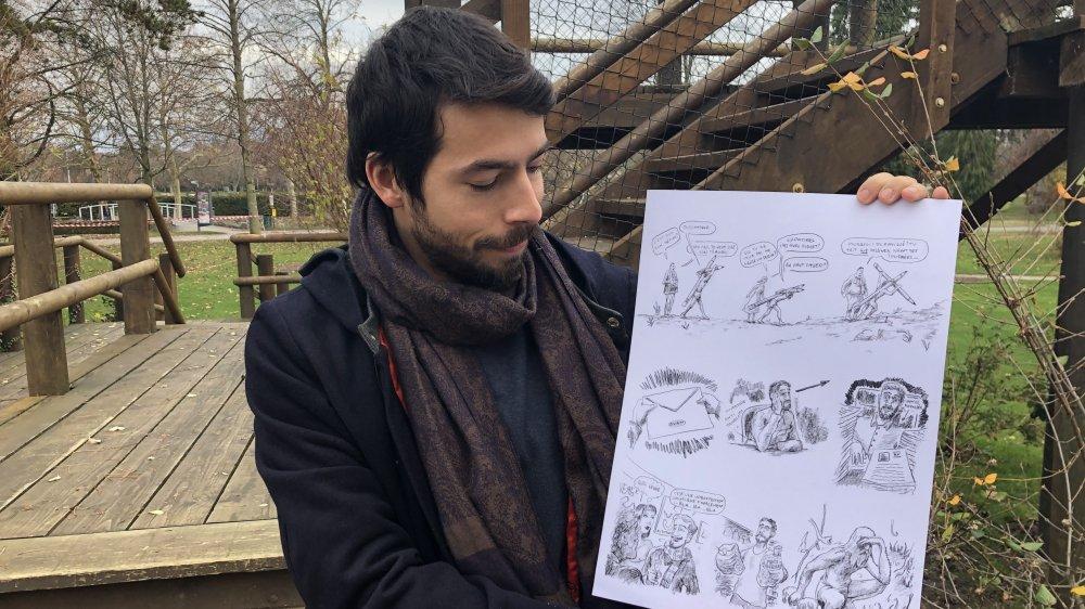 Kevin Crelerot souhaite inciter à la réflexion avec la bande-dessinée qu'il a envoyée au canton.
