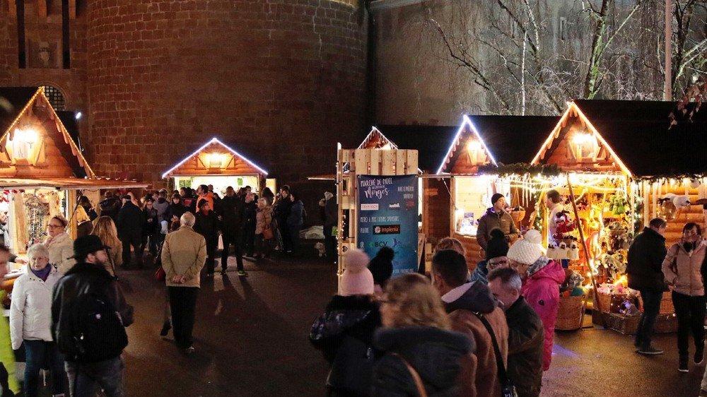 Jeudi soir, les clients étaient déjà nombreux au marché de Noël de Morges.