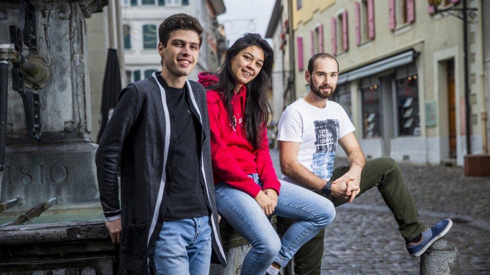 A 19, 20 et 24 ans, Alexandre Legrain, Mireille Ryf et Damien Richard s'engagent pour la jeunesse de leur région.