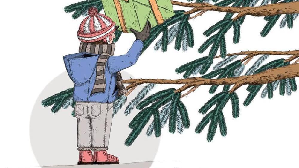Des contes de Noël autour du sapin de la place du Château de Nyon.