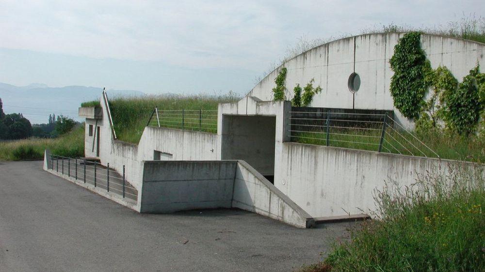 La station de traitement de Champ-Jaillet qui a connu cet été le phénomène d'eau jaune.