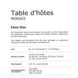 """Table d'hôtes """"Chez Ilse"""""""
