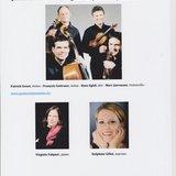 Concert du Quatuor Sine Nomine, Virginie Falquet et Delpphine Gillot