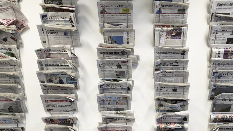 L'aide indirecte à la presse représente un montant total de 50 millions de francs (illustration).