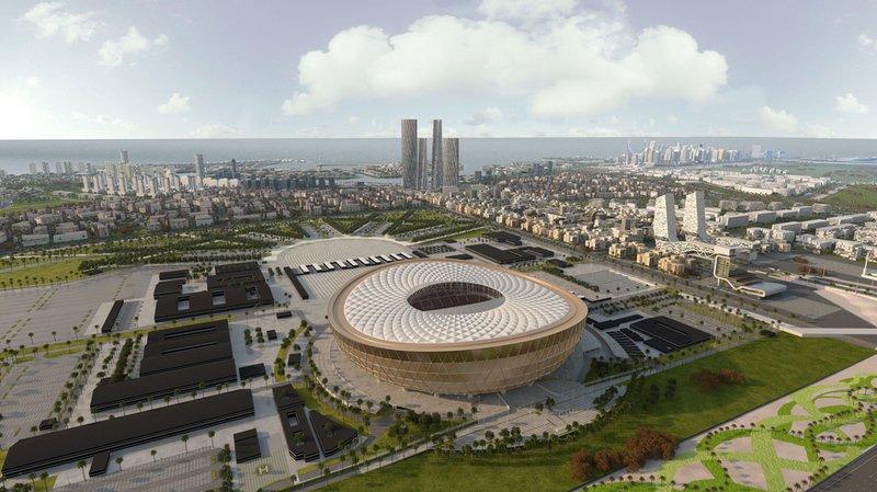 Sorte de soucoupe aux formes arrondies, le Lusail Stadium comptera 80 000 places et doit être livré en 2020.