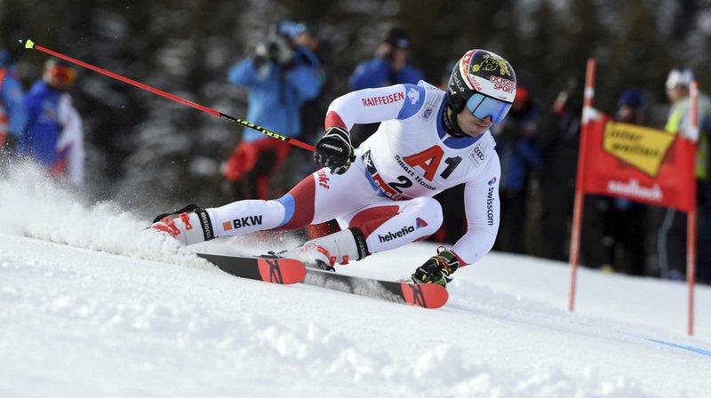 Ski alpin: Loïc Meillard troisième après la première manche du géant de Saalbach