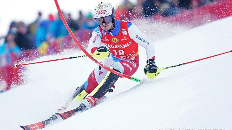 Ski alpin: deuxième podium en deux jours pour Loïc Meillard qui termine 2e du slalom de Saalbach remporté par Hirscher