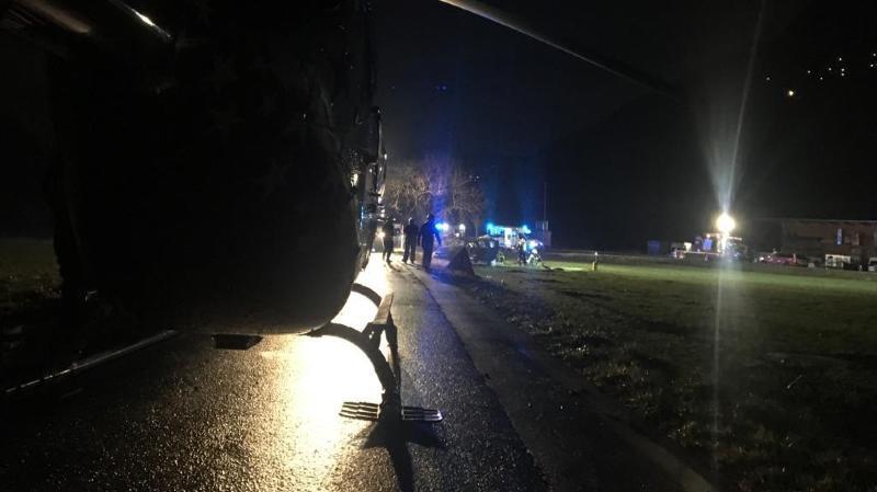 Valais: cinq jeunes fremmes grièvement blessées dans un accident de la route près de St-Maurice