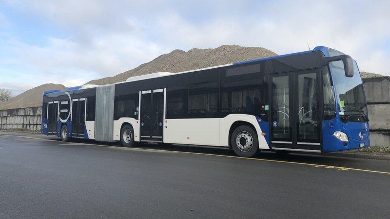 TPN: deux bus articulés pour répondre au flux des heures de pointe