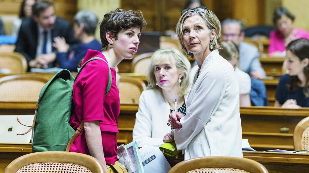Les Vertes Lisa Mazzone (GE) et Maya Graf (BL) pourraient bien faire partie des conseillères aux Etats après les élections fédérales du 20octobre prochain.