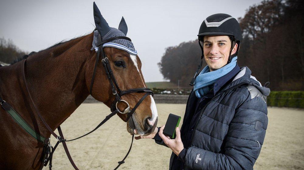 """À Apples, David Deillon a déjà pu tester son capteur avec son cheval """"Unexpected Boy""""."""