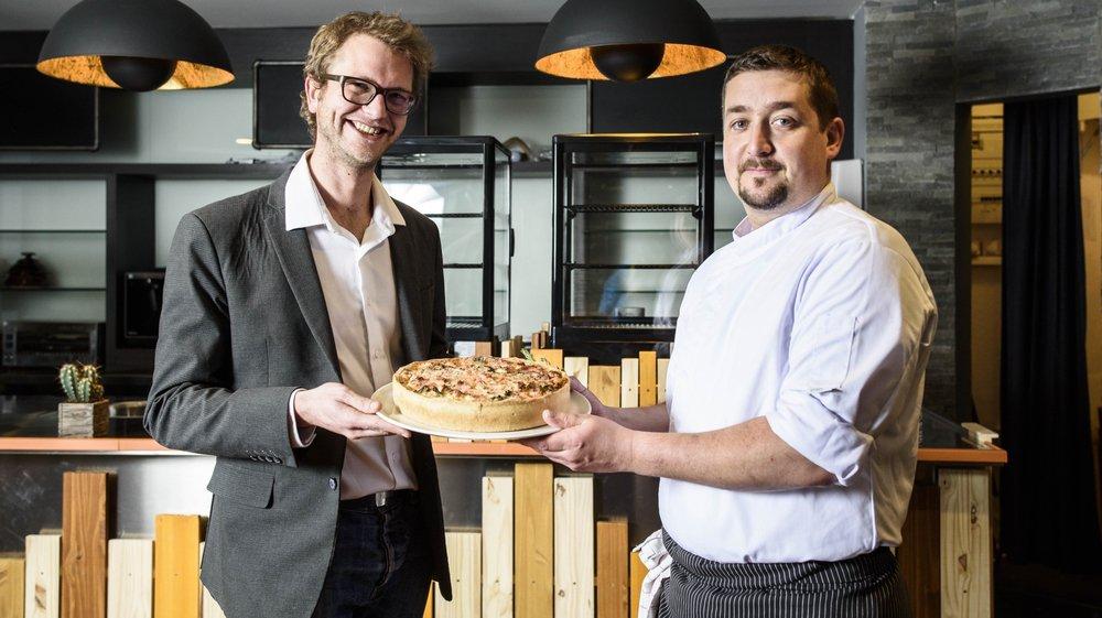 """Amaury Depaux (à g.), fondateur du concept de """"Snak"""" et Benoît Baclet, son associé et chef de cuisine."""