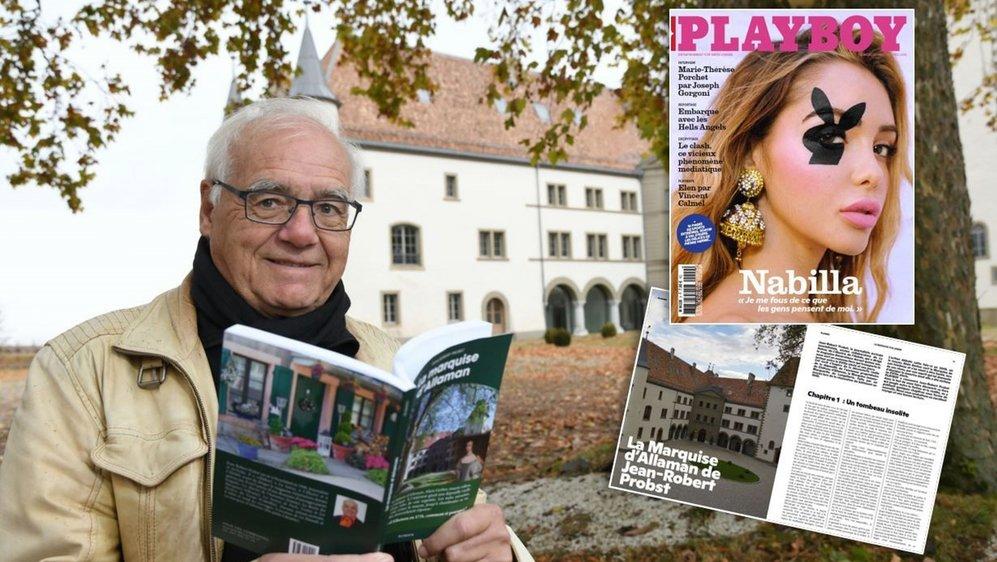 Le dernier roman de Jean-Robert Probst est feuilletonné dans Playboy suisse. On trouve un premier volet après des photos de charme d'Elen par Vincent Calmel.