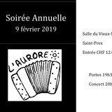 Soirée annuelle de la société d'accordéon l'Aurore