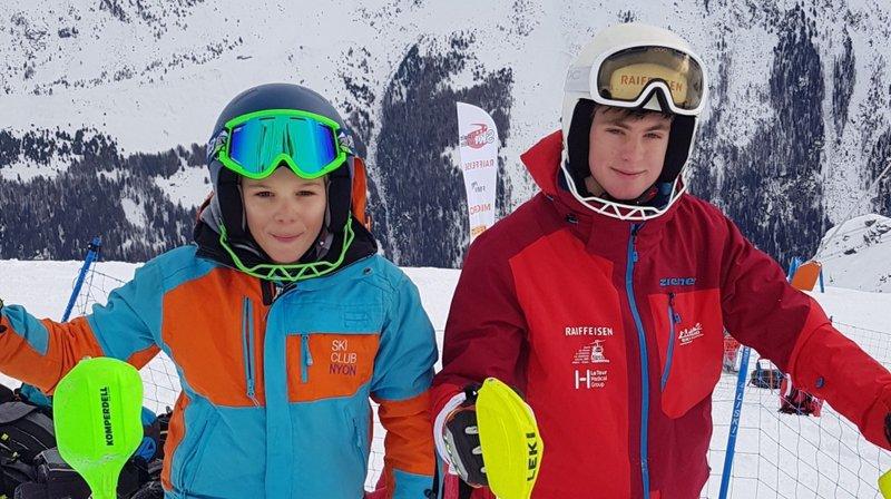 Timéo Maillard (à gauche) et Luca Stoeklin ont connu les joies du podium ce week-end.