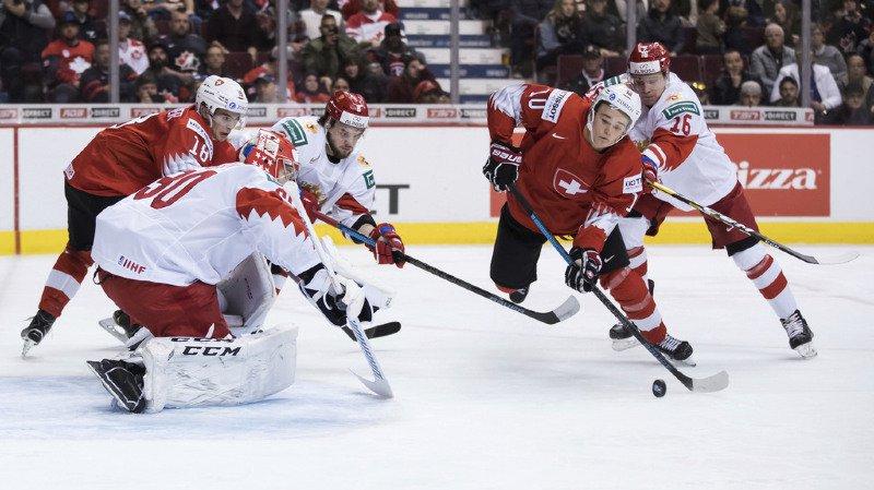 Hockey sur glace: la Suisse battue 7-4 par la Russie au Championnat du monde M20