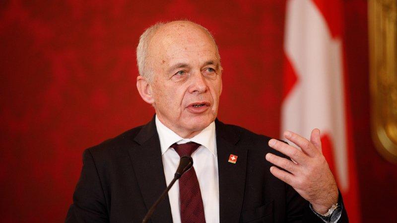 S'exprimant devant la presse, le président de la Confédération a rappelé que la Suisse comme l'UE élisent leurs parlements cette année.