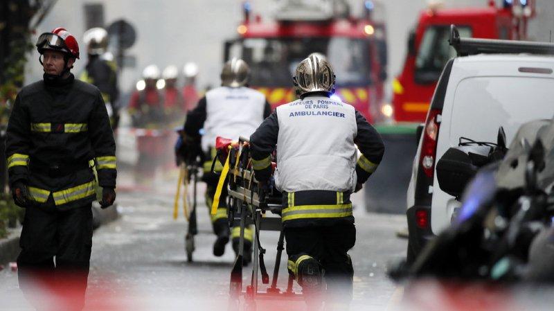 Explosion à Paris: le bilan s'alourdit à 3 morts, dont deux pompiers et près de 50 blessés
