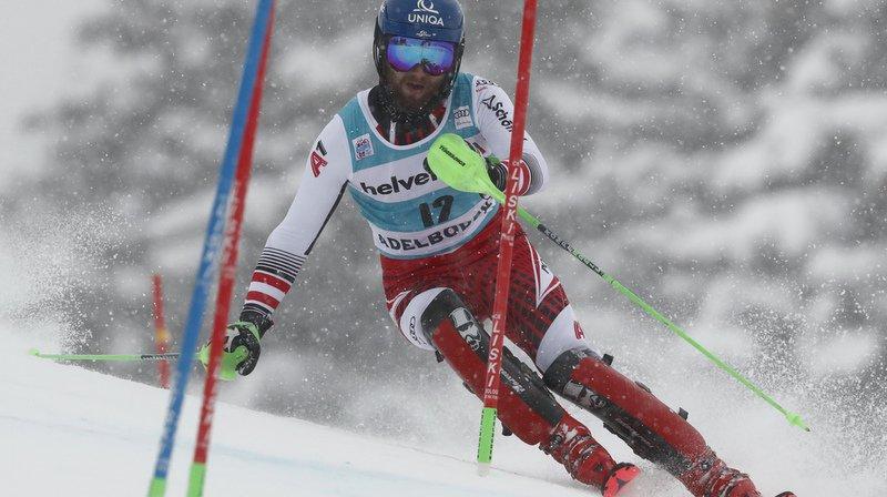 Ski alpin: quatre Suisses dans le top-10 de la 1ère manche du slalom d'Adelboden, Schwarz devant