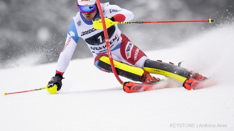 Ski alpin: Mauro Caviezel accroche un excellent 6e rang au slalom du combiné de Wengen