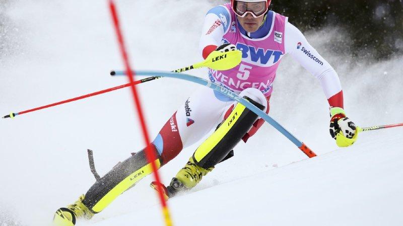 Ski alpin: Daniel Yule 8e de la première manche du slalom de Wengen, le Français Noël devant